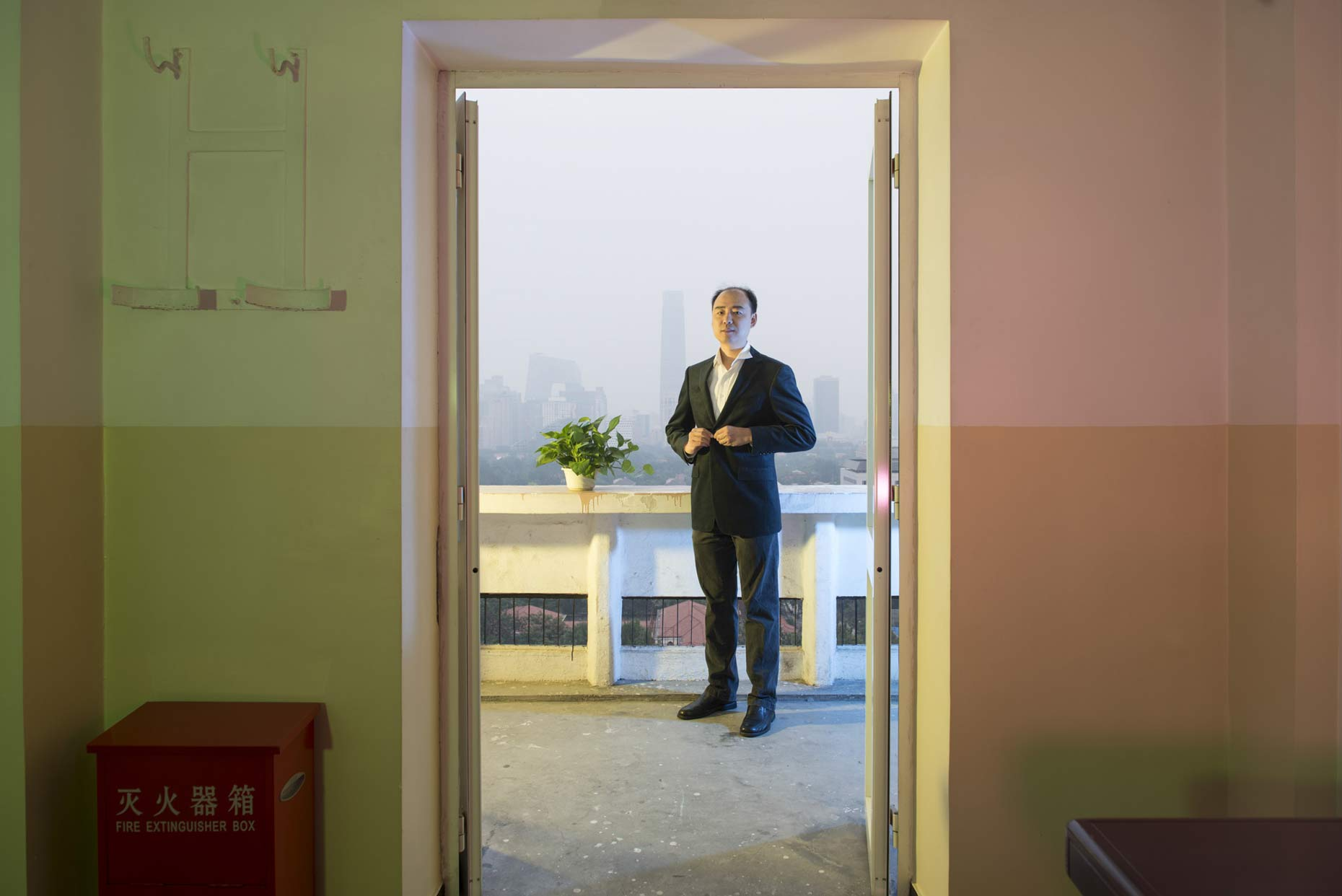 Portrait of Ma Jun, Environmentalist and Director of Institute of Public & Environmental Affairs by Photographer Stefen Chow | China Water Pollution Map | Wall Street Journal Innovators project | Portrait Photography | Beijing | China | Asia