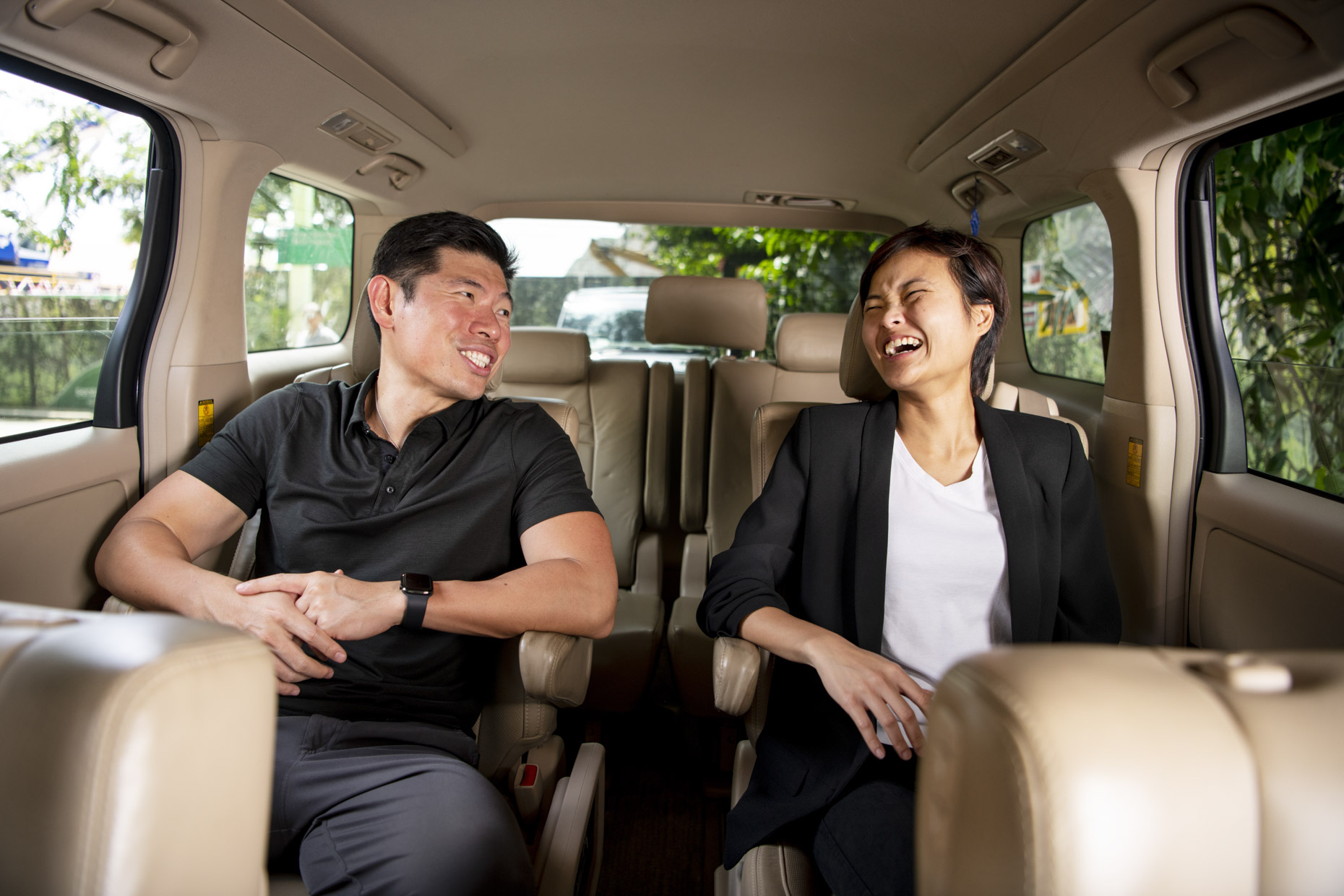Grab Founders Anthony Tan and Tan Hooi Ling photographed in Singapore