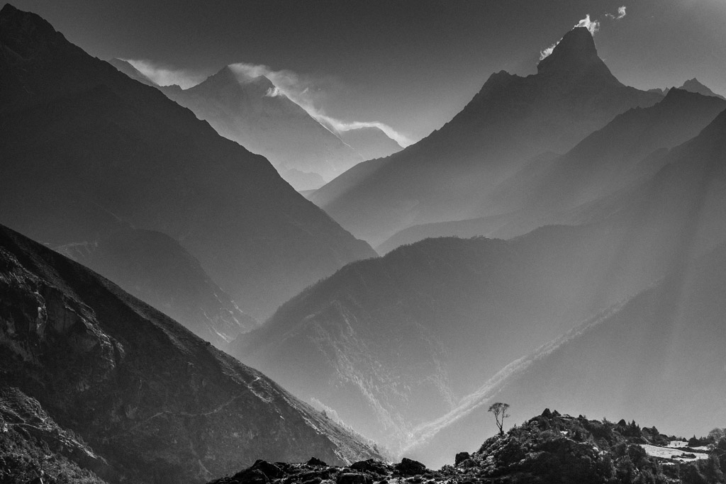 Traces | Mountain | Himalayas | Black and white | Landscape Photography | Stefen Chow