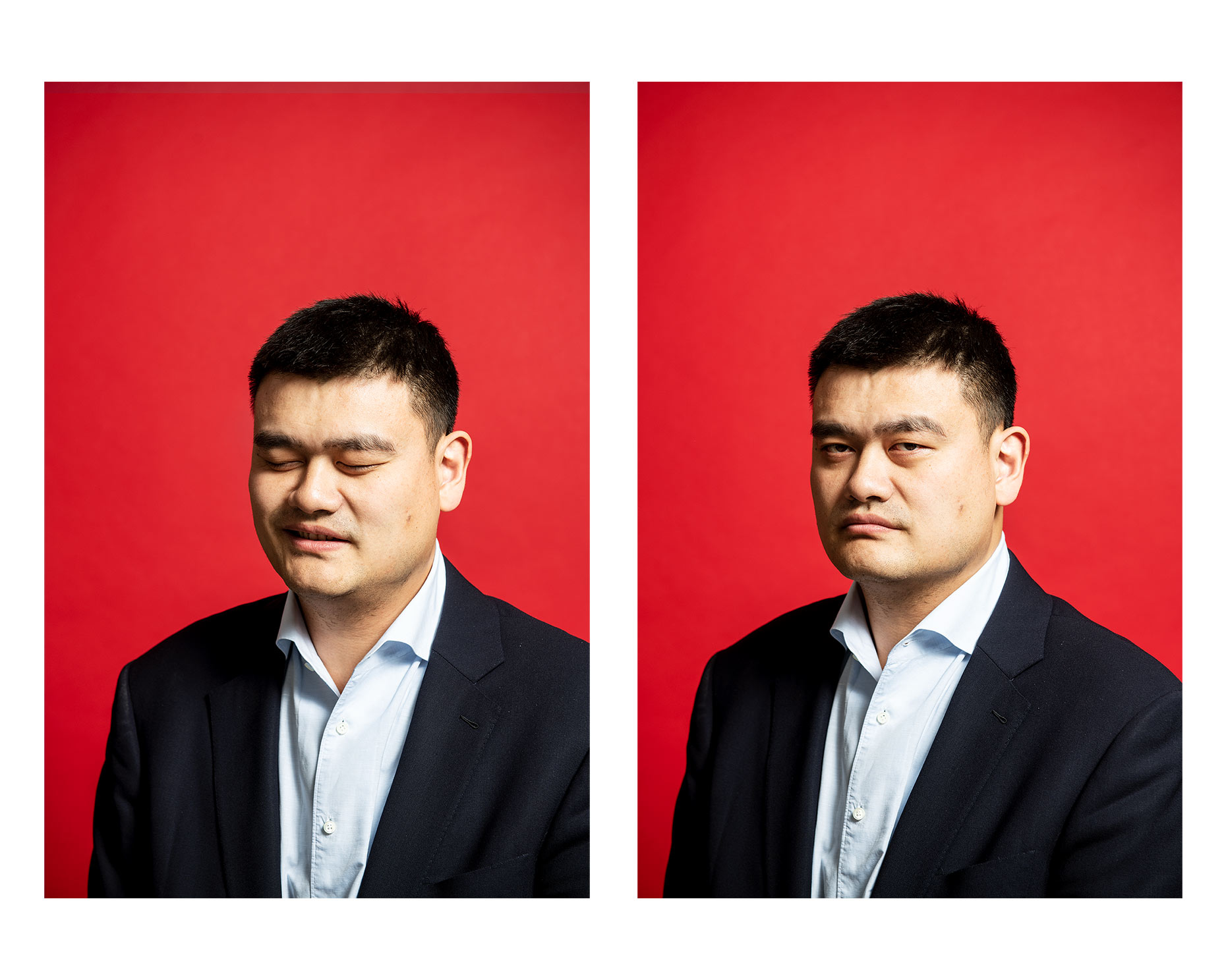 Yao Ming Stefen Chow Portrait