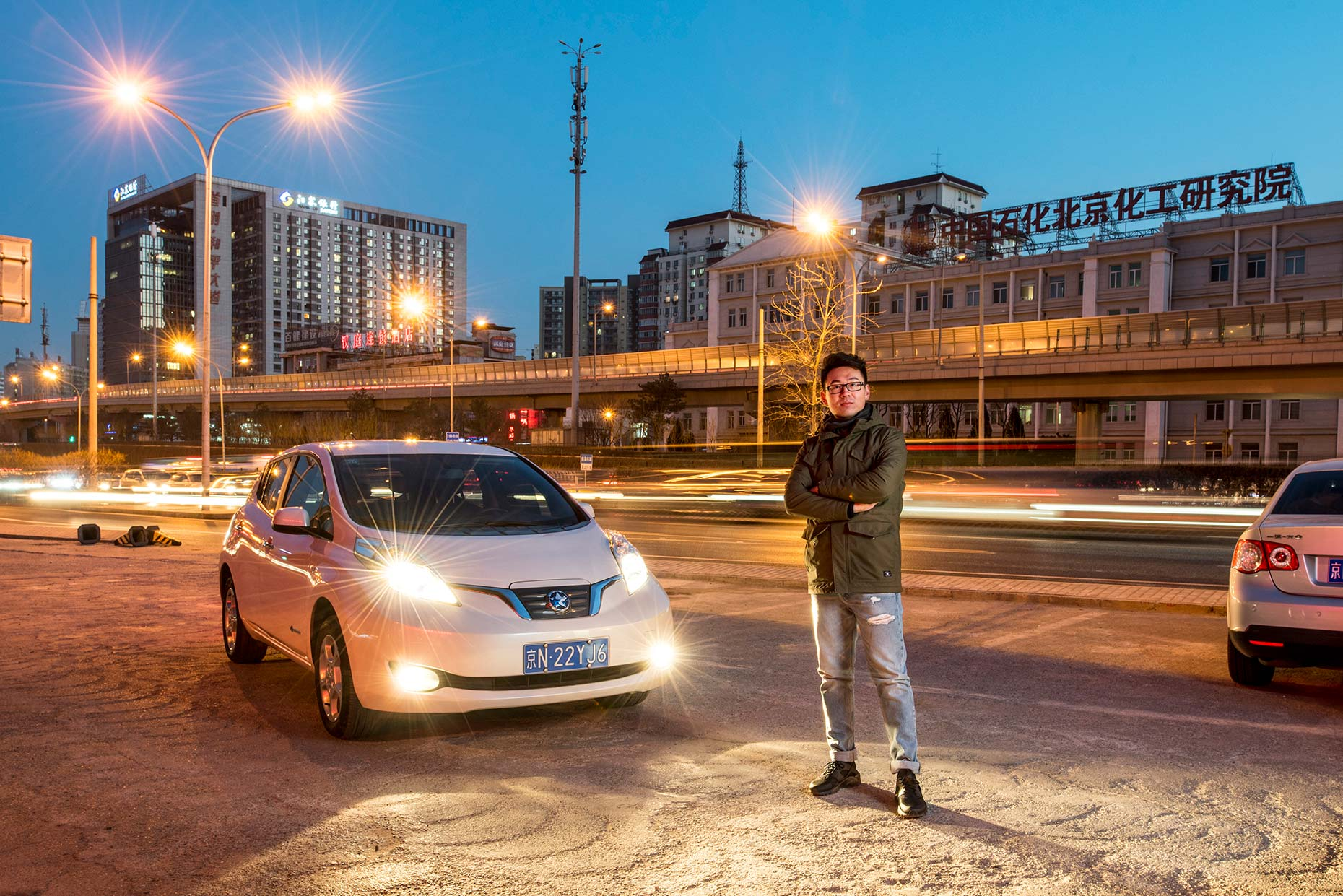 Electric Car Owner by Photographer Stefen Chow | Portrait Photography | Beijing | China | Asia