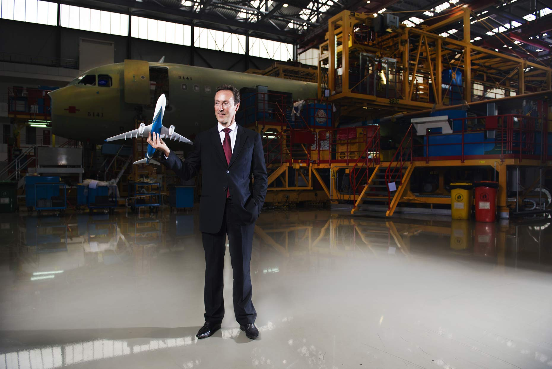 Fabrice Brégier, CEO of Airbus | Wiwo, WirtschaftsWoche magazine | Tianjin, China | Portrait Photography | Stefen Chow