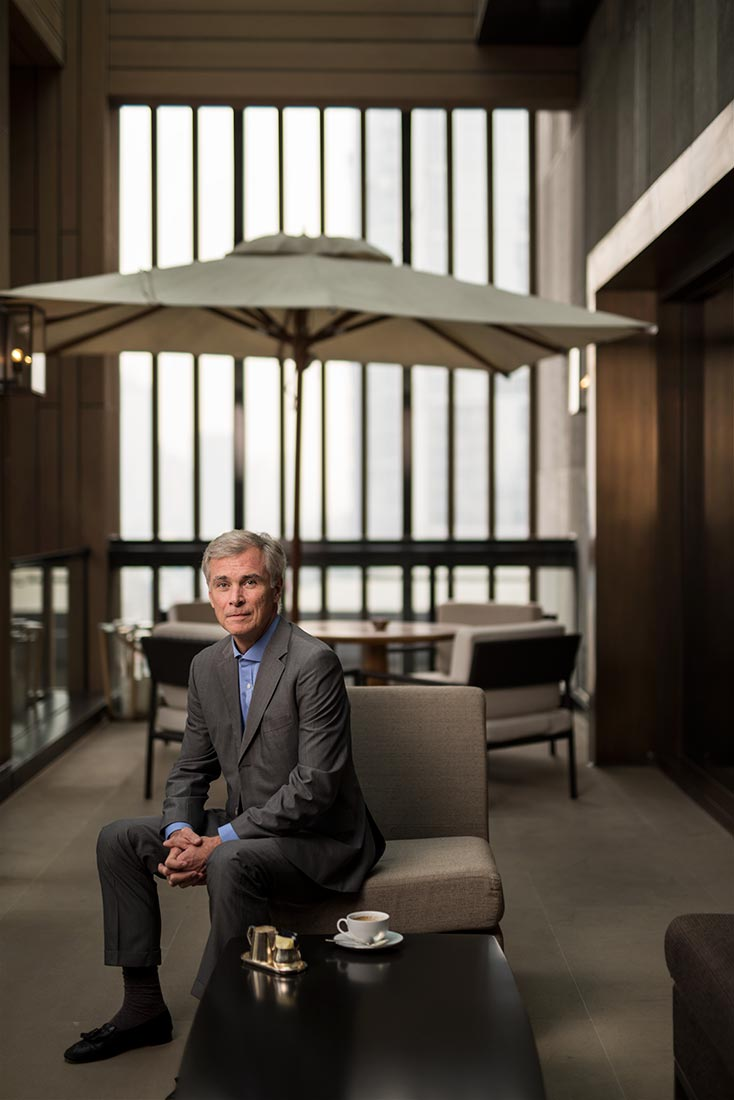 Rosewood Hotel Group CEO Symon Bridle Stefen Chow