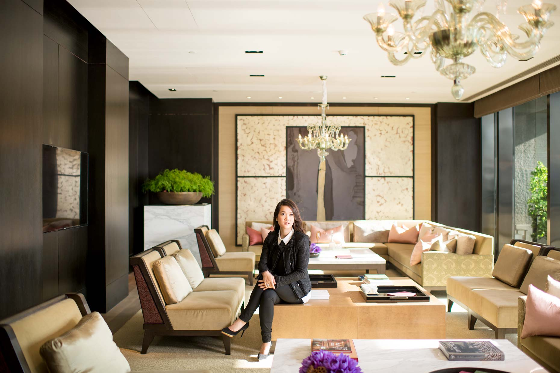 Portrait of Sonia Cheng, CEO of Rosewood Hotel | Le Pan | Beijing | Stefen Chow