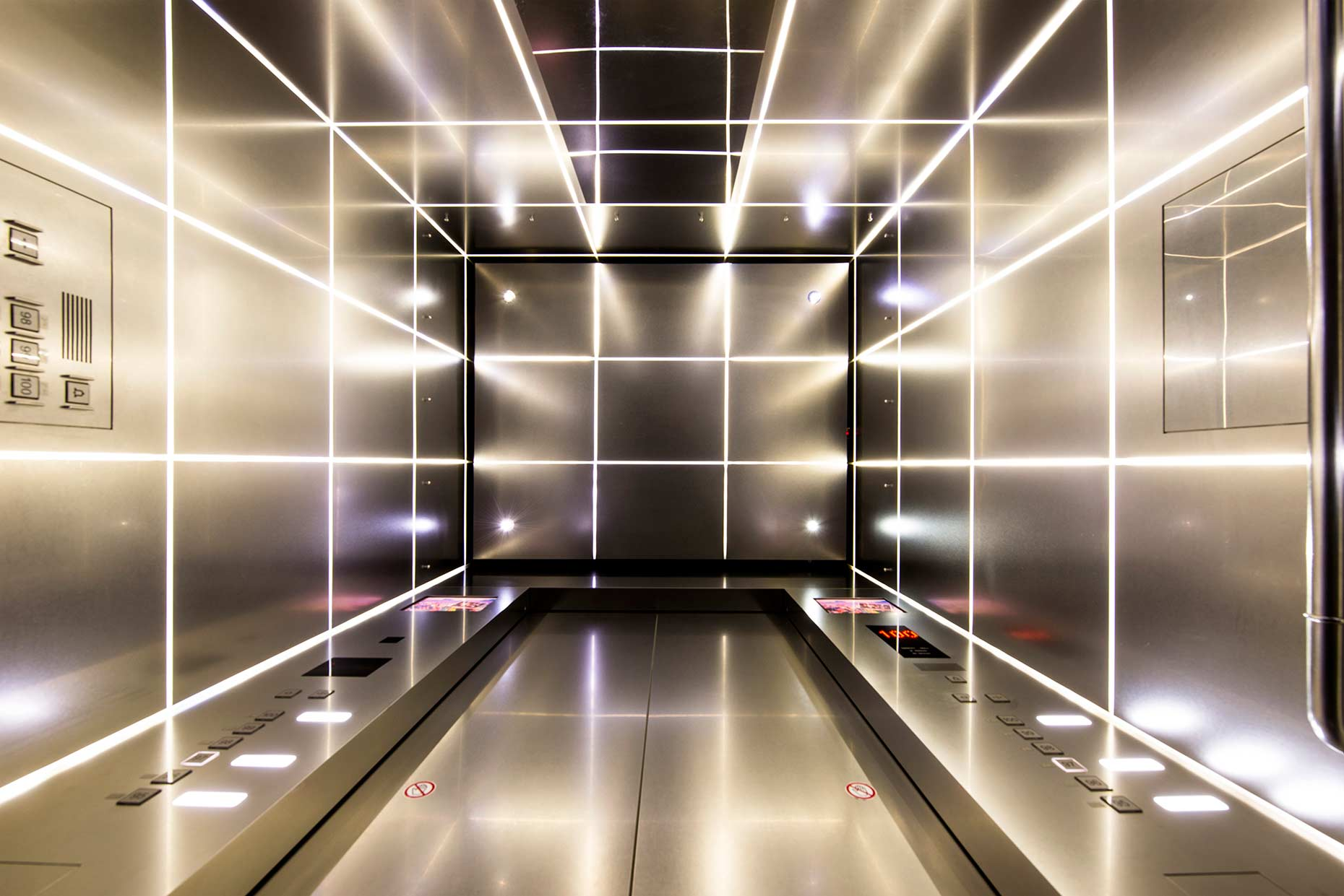 Interior of an Otis Elevator  | United Technologies | Industrial Photography | China | Stefen Chow