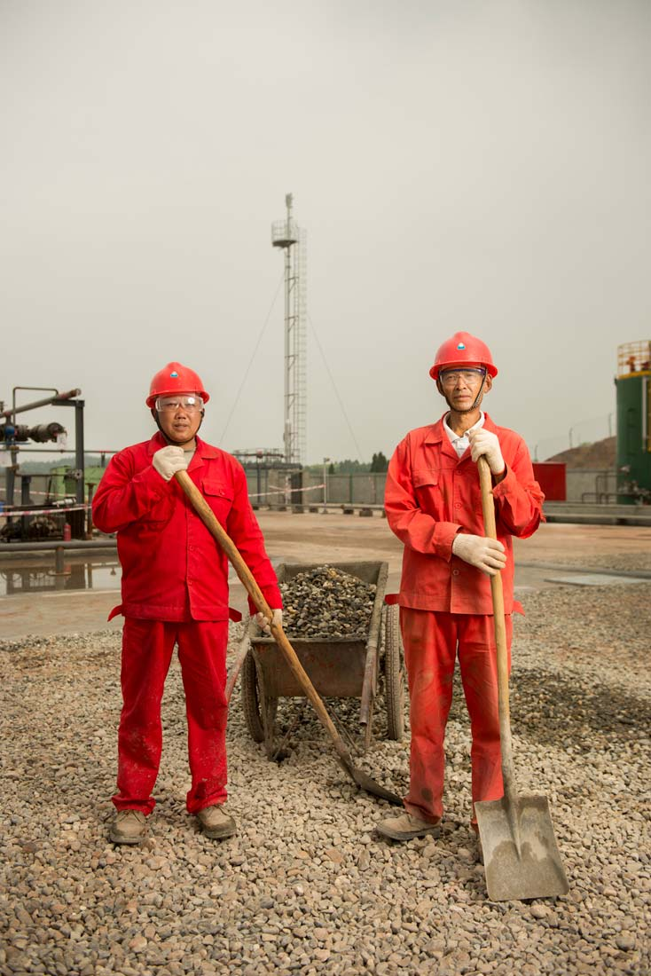 Workers in a Fracking Facility by Photographer Stefen Chow | Fortune Magazine | Fracking | Portrait Photography | Editorial | Energy | China | Asia