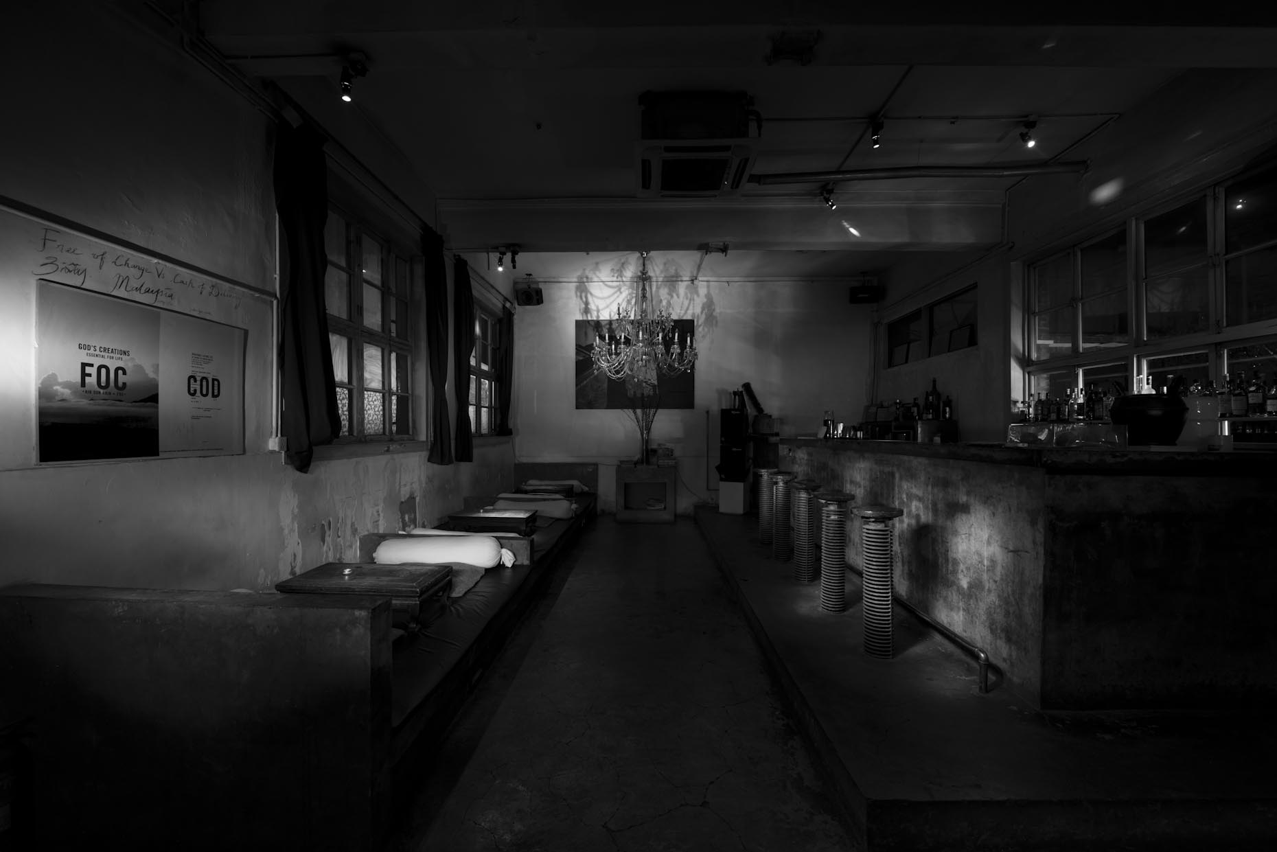 Bed Bar | Interior Photography | Architectural Photography | Black and white | Stefen Chow | Beijing | China