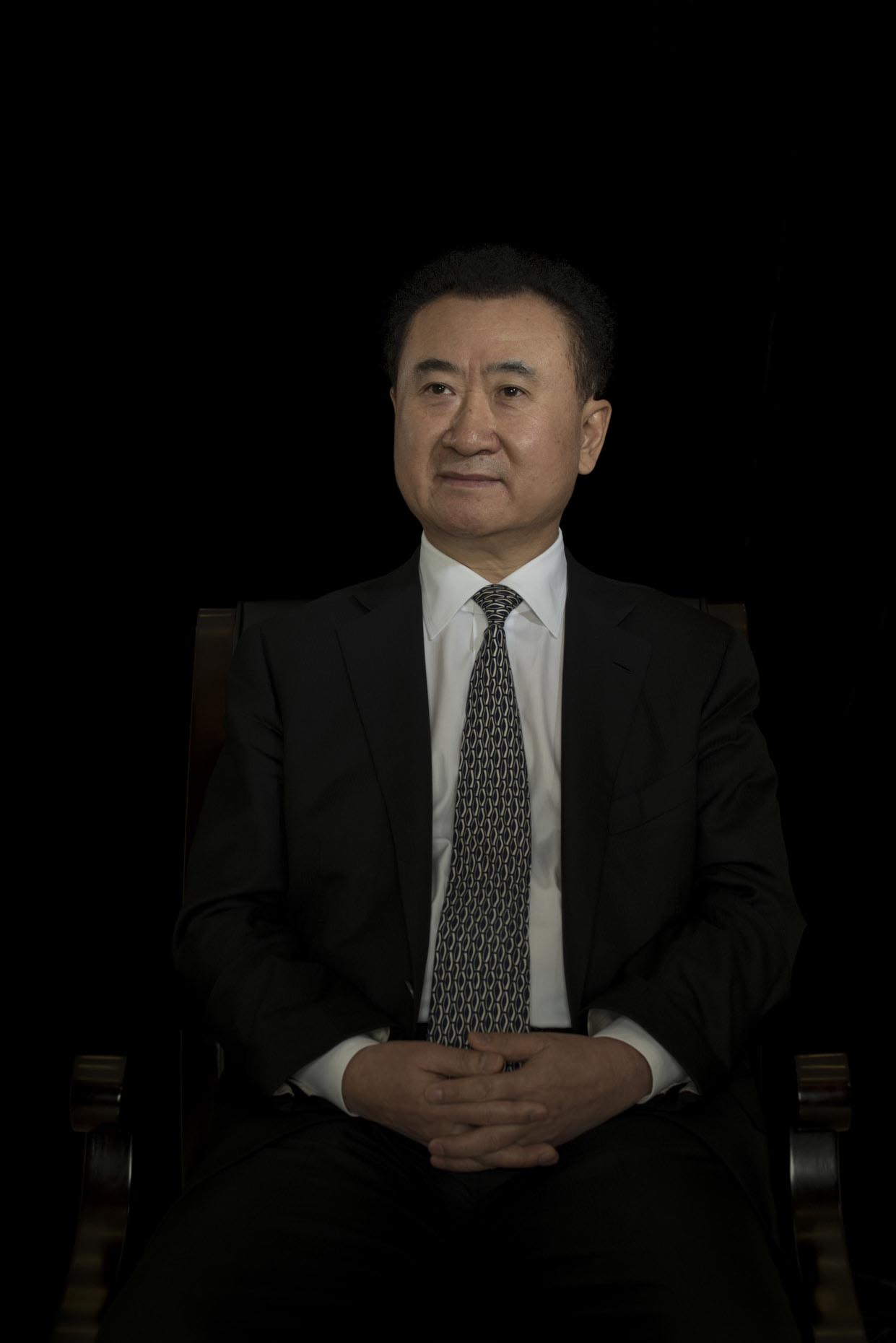 Minimal Portrait of Wang Jianlin by Photographer Stefen Chow | China